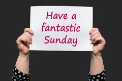 Ayez un dimanche fantastique image stock