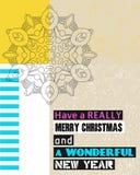 Ayez un Noël vraiment Joyeux Et une nouvelle année merveilleuse Photo libre de droits