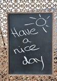 Ayez un signe de beau jour Photo stock