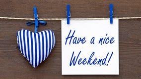 Ayez un signe gentil de week-end Image libre de droits