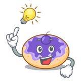 Ayez une bande dessinée de mascotte de myrtille de beignet d'idée illustration de vecteur