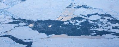 Ayez une vue aérienne de la glace et du lever de soleil au-dessus du détroit de Béring ‰ de ¼ du ¼ ˆ1ï d'ï photographie stock