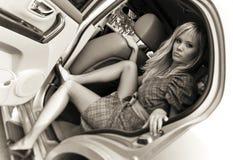Aygul dans le véhicule Photo stock
