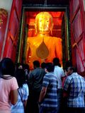 Ayhuttaya,泰国8月24日2014年:佛教图象和宗教 库存照片