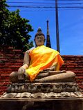 Ayhuttaya,泰国8月24日2014年:佛教图象和宗教 图库摄影