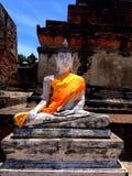 Ayhuttaya,泰国8月24日2014年:佛教图象和宗教 免版税库存图片