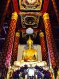 Ayhuttaya,泰国8月24日2014年:佛教图象和宗教 免版税库存照片