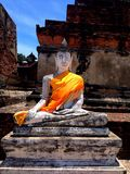Ayhuttaya, Таиланд 24-ое августа 2014: Изображение и вероисповедание буддизма Стоковое Изображение RF
