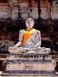 Ayhuttaya, Таиланд 24-ое августа 2014: Изображение и вероисповедание буддизма Стоковое Фото