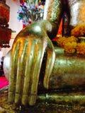 Ayhuttaya, Таиланд 24-ое августа 2014: Изображение и вероисповедание буддизма Стоковые Изображения