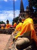 Ayhuttaya, Tailandia 24 agosto 2014: Immagine e religione di buddismo Fotografie Stock Libere da Diritti