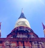 Ayhuttaya, Thaïlande 24 août 2014 : Image et religion de bouddhisme Photographie stock libre de droits