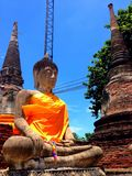 Ayhuttaya, Thailand-August 24, 2014:Buddhism image and religion Royalty Free Stock Photo