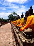 Ayhuttaya, Thailand-August 24, 2014:Buddhism image and religion Royalty Free Stock Images