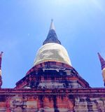 Ayhuttaya, Thailand-August 24, 2014:Buddhism image and religion Royalty Free Stock Photography