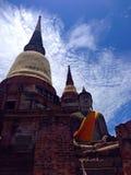 Ayhuttaya, Thailand 24. August 2014: Buddhismusbild und -religion Lizenzfreies Stockbild