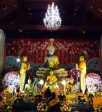 Ayhuttaya Thailand-Augusti 24, 2014: Buddismbild och religion Royaltyfri Foto