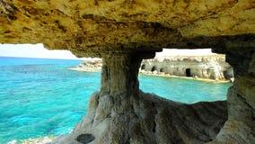 Ayia Napa - σπηλιές Seaa Στοκ φωτογραφία με δικαίωμα ελεύθερης χρήσης