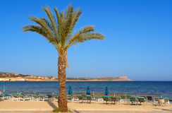 Ayia napa beach in cyprus island Royalty Free Stock Images