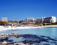 Ayia Napa beach, Cyprus. Royalty Free Stock Photo