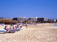 Ayia Napa beach, Cyprus. Royalty Free Stock Image