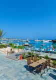 Ayia Napa City Beach and Coast Cafe, Cyprus Stock Photo