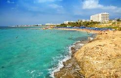 Ayia Napa coastline. Cyprus. Stock Photos