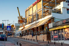 AYIA NAPA, CYPRUS - AUGUST 18, 2016: Hard Rock Cafe Located on A Royalty Free Stock Photo