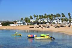 Ayia Napa, Cyprus - November 1. 2018. Cozy And Beautiful Makronissos Beach Resort Stock Photo