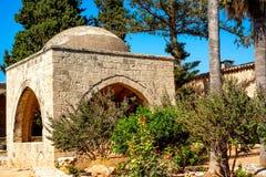 Ayia Napa Monastery courtyard and garden. Ayia Napa, Cyprus Royalty Free Stock Photography