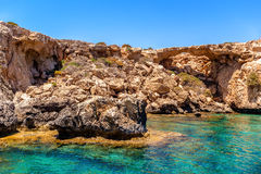 Ayia Napa sea caves near Cape Greco. Famagusta District. Cyprus Stock Photo