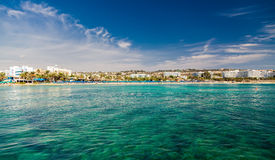 Ayia Napa town coastline Royalty Free Stock Photo