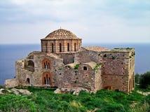 Ayia Sophia church at Monemvasia, Greece. Ayia Sophia 13th century Byzantine church, at Monemvasia, Greece stock photos