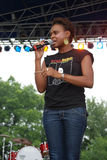 Ayiesha Woods at The Wolrd Pulse Festival 3 Royalty Free Stock Photo