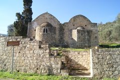 Ayios Ioannis Theologos church in Stylos, Greece Stock Photography