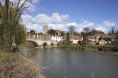 Aylesford. A view of Aylesford, an historic village in Kent England Royalty Free Stock Images