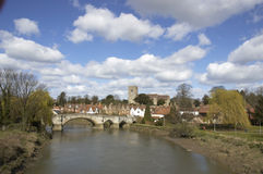 Aylesford. A view of Aylesford, an historic village in Kent England Stock Image