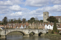 Aylesford. A view of Aylesford, an historic village in Kent England Stock Photos