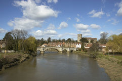Aylesford. A view of Aylesford, an historic village in Kent England Royalty Free Stock Image