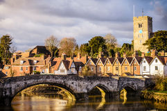 Aylesford Bridge Near Maidstone Kent at Sun Set Stock Images