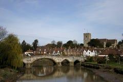 Aylesford medieval bridge kent england Stock Image