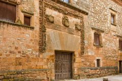 Ayllon, Spain. Contreras palace in Ayllon, Segovia, Castile and Leon, Spain Royalty Free Stock Image