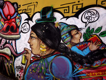 Aymara graffiti La Paz Bolivia Royalty Free Stock Photo