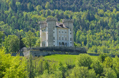 Aymavilles Castle - Aosta Valley - Italy Stock Photo