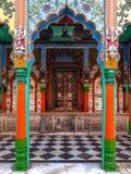 Ayodhya, Indien Hanuman Garhi Temple Details der Architektur lizenzfreies stockbild