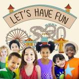 Ayons le concept de graphique d'enfants d'enfants d'amusement Images libres de droits
