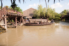 Ayothaya Floating Market Stock Image