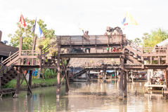 Ayothaya Floating Market Royalty Free Stock Photo