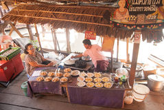 Ayothaya Floating Market Royalty Free Stock Image