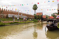 Ayothaya floating market Royalty Free Stock Photography
